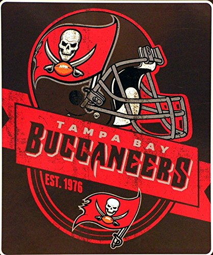 (The Northwest Company Tampa Bay Buccaneers - Established in 1976 - NFL Grand Stand Royal Plush Raschel Throw)