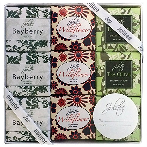 French Milled Botanical Soap Sampler Set in Nine Fabulous Scents, Individually Wrapped Vegetable Based Mini Soaps with Essential Oils, Shea Butter and Natural Extracts (SpecialtyAssorted)