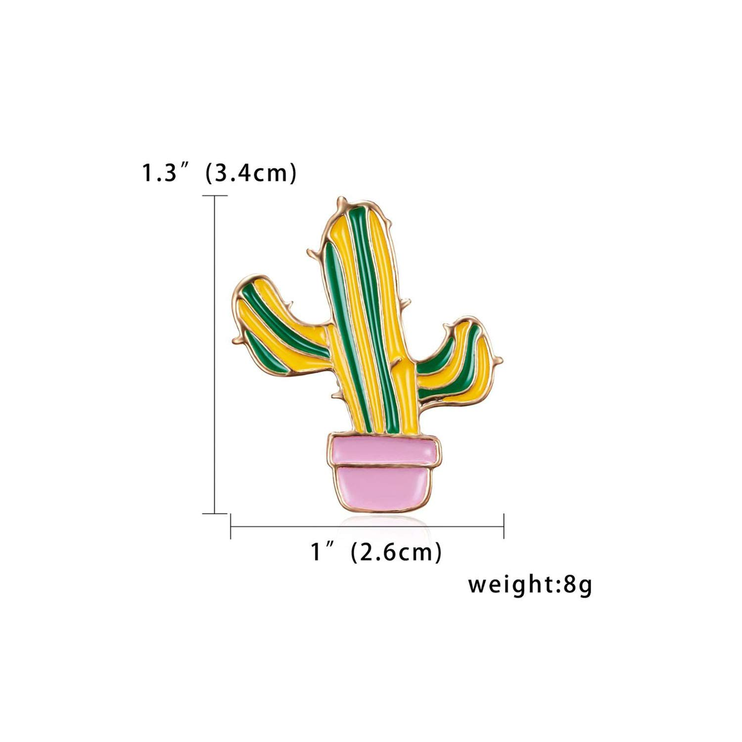 Prosperous-Blooming New Cute Enamel Brooch Potted Cactus Cherry Fruit Painting Oil Plant Small Brooch