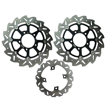 Mallofusa moto Rotor del freno de disco frontal y trasero ...