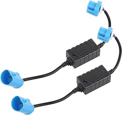 TOMALL H13 9008 D/écodeur CAN-BUS EMC Avertissement sans erreur Avertissement Annulateur Capacitor Anti-Flicker R/ésistance harnais pour les syst/èmes de phares /à LED
