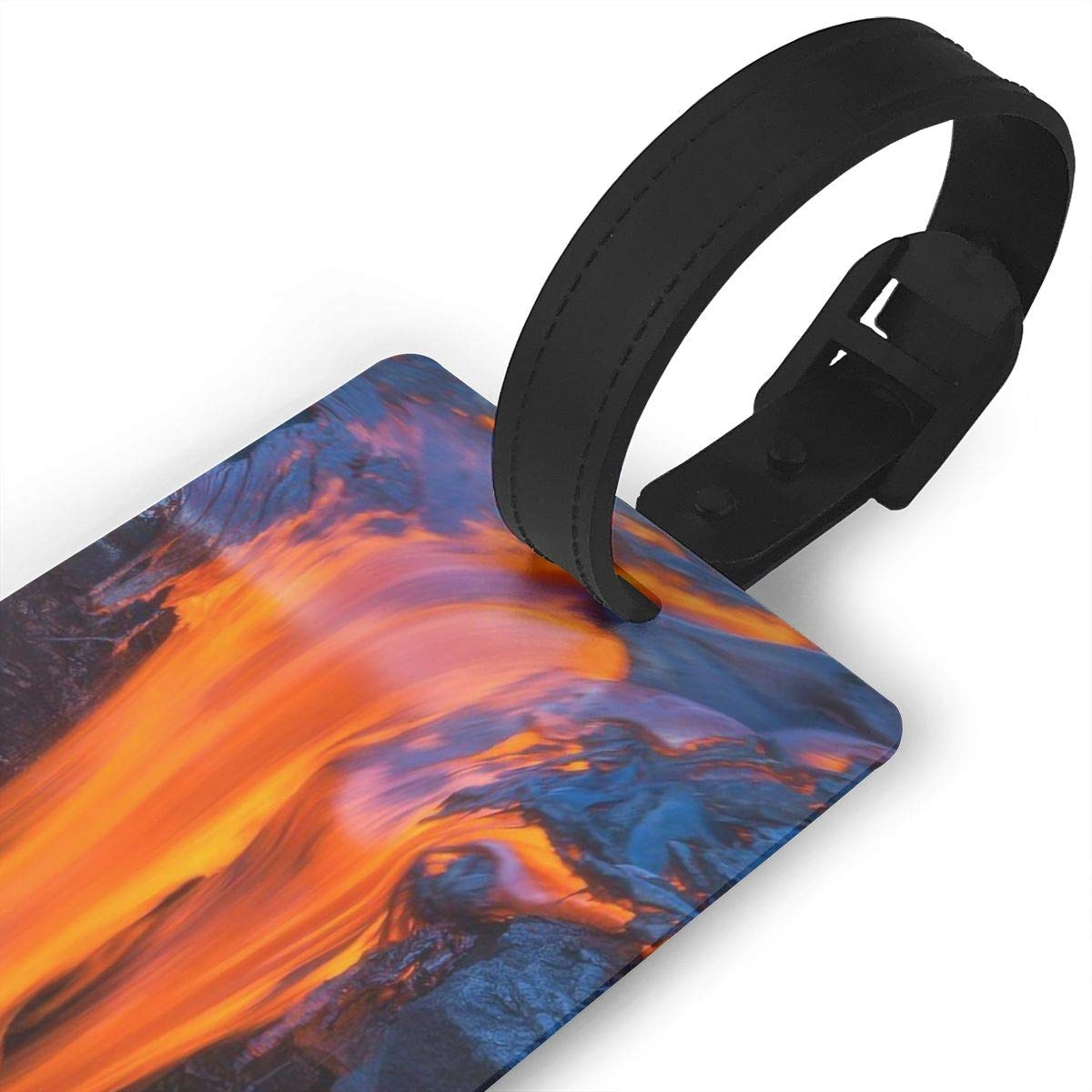 Volcano Erupting Handbag Tag For Travel Bag Suitcase Accessories 2 Pack Luggage Tags
