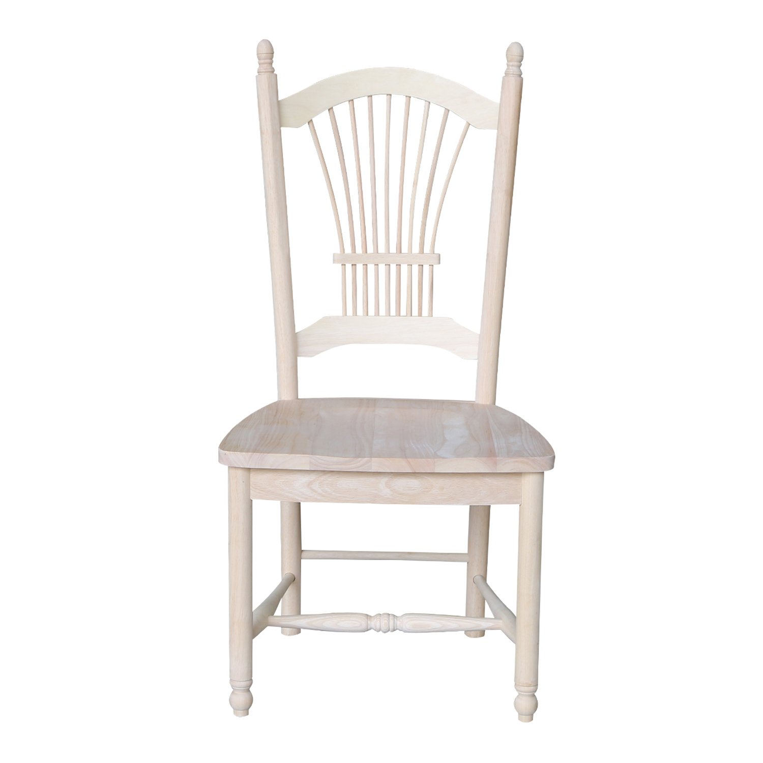 International Concepts C-16029 Sheaf Back Chair, Unfinished