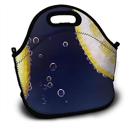 88afc8a10884 Amazon.com - LIUYAN Custom Lunchbox Bubbles Citrus Lemon Cooler Bag ...