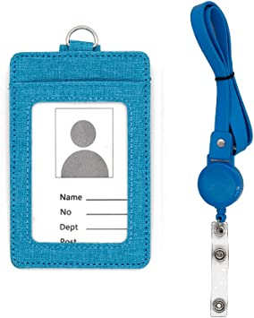 Pro Advanced ID Badge Card Holder Name Badge Holder with Neck Lanyard id Holder