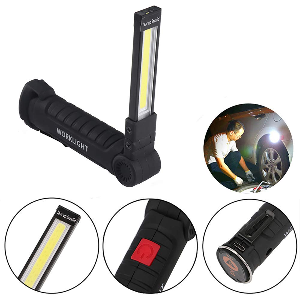 Sunsbell Rechargeable Flashlight Portable for Outdoor Camping car Repair USB Flashlight LED Work Light