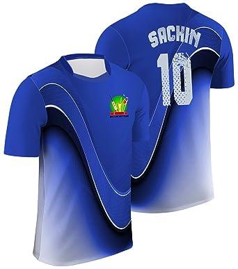 8d0cf6a7f Mode Stoff Men s Cricket Team Players Jersey T-Shirt (Blue