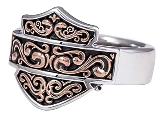 Amazon Harley Davidson Women s Herald Bar & Shield Ring Rose