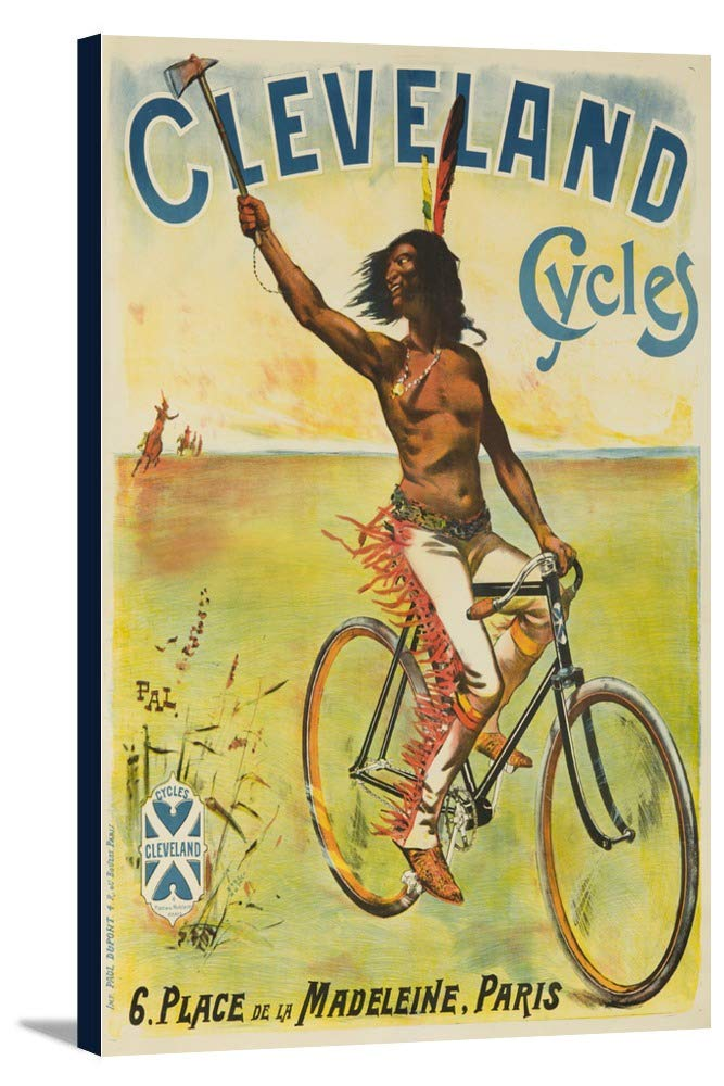 Clevelandサイクルヴィンテージポスター(アーティスト: Pal Jean De Paleologue )フランスC。1898 24 x 36 Gallery Canvas LANT-3P-SC-62737-24x36 B0184B5POW  24 x 36 Gallery Canvas