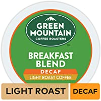 Green Mountain Coffee Roasters Breakfast Blend Decaf Keurig Single-Serve K-Cup pods, Light Roast Coffee, 72 Count
