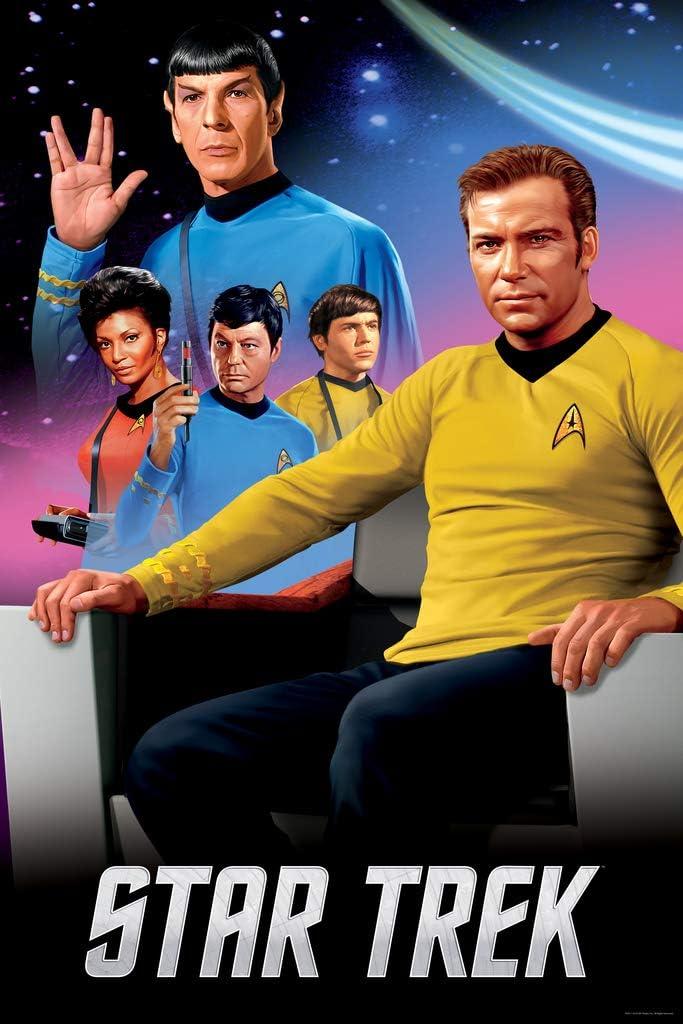Pyramid America Star Trek Characters Vertical Spock Captain Kirk Cool Wall Decor Art Print Poster 24x36