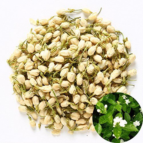 TooGet Fragrant Natural Pure Jasmine Buds Organic Dried Jasmine Flowers Wholesale, Herbal Tea - 4 OZ (Dried Flower Buds)