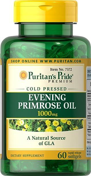 Amazon.com: Puritan s Pride Aceite de Onagra 1000 mg con ...