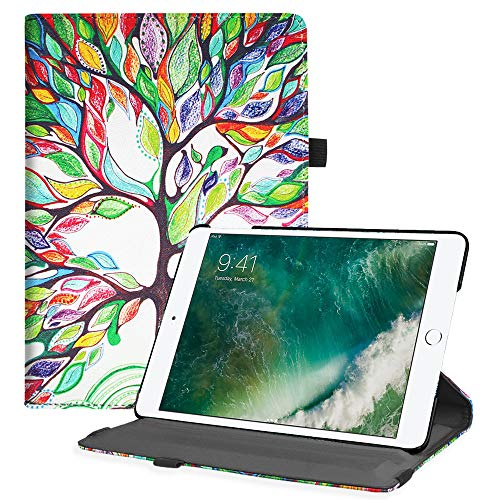 Fintie iPad 9.7 2018 2017 / iPad Air 2 / iPad Air Case - Multiple Angles Stand Smart Protective Cover with Auto Sleep Wake for iPad 9.7 inch (6th Gen, 5th Gen) / iPad Air 2 / iPad Air, Love Tree ()