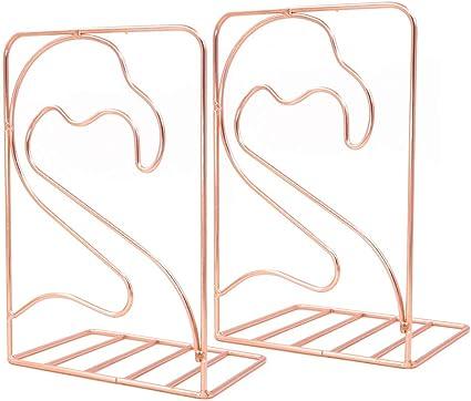 Fermalibri creativo a forma di gufo antiscivolo Colore: rosso in metallo F/ülleMore
