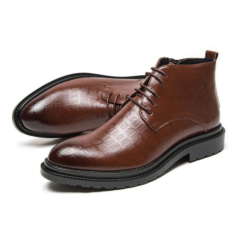 Hy Herrenschuhe, Leder Herbst Winter wies formelle Business-Schuhe, Slip-Ons Komfort Komfort Komfort Driving Schuhe Freizeitschuhe Hochzeitsgesellschaft (Farbe   Braun, Größe   39) e13187
