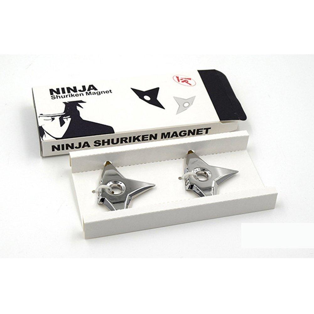 Famhome ninjia shuriken nevera imanes, asesino moda Negro