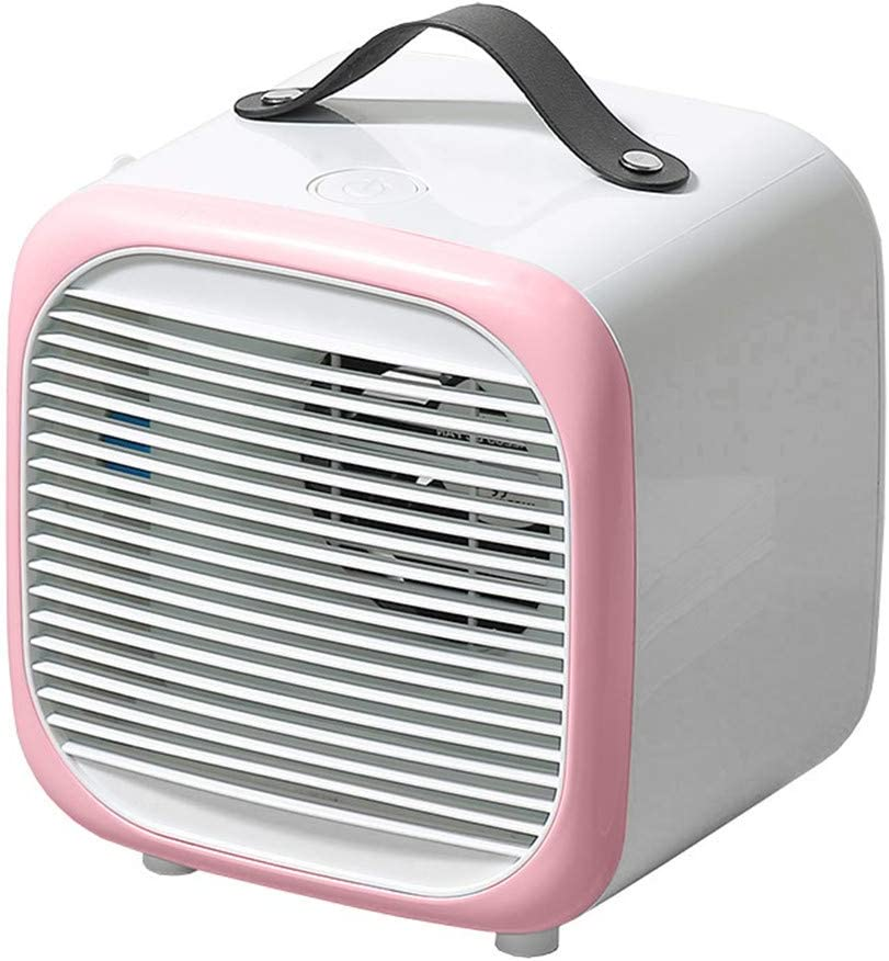 Uotmiki Mini Space Cooler-Portable Air Cooling, Personal Air Conditioner, Multi-function USB Air Conditioning Fan Removable Fan,Personal Cooler Fan for Home Office Desktop Bedroom (Pink)