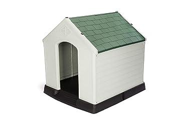 GARDIUN Caseta de Perro Zeus Maxi Resina Beige/Verde 96x105x98 cm - KZT1003: Amazon.es: Jardín