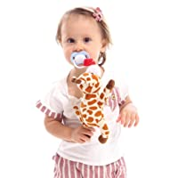 Deals on Fanxis Baby Pacifier Holder Suspension Animal Plush Doll Toy