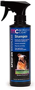 Miracle Coat Spray-On Waterless Shampoo for Dogs 12-Ounce