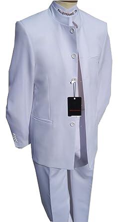 Para hombre de color blanco traje de crema boda de estilo trajes ...