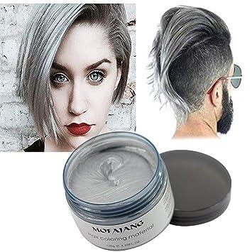 Haarfarbe Wachs Naturliche Matte Frisur Fur Party Cosplay Halloween Slivere Grau