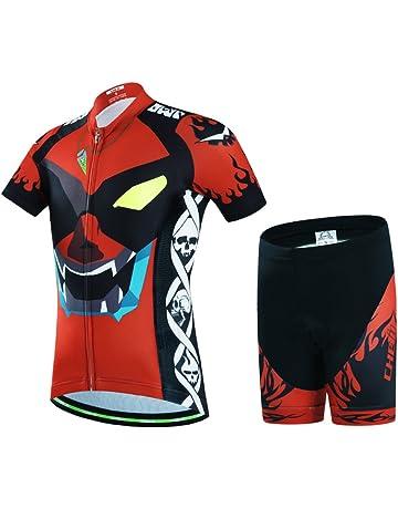 ead864939 CH Q Kids Cycling Jersey Set Boys Girls 3D Padded Shorts Road Mountain Bike  Short Sleeve Jersey