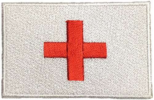 Red Riding Hood Diy Costumes (Papapatch Red Cross Medic First Aid Emergency Logo Uniform Costume Sewing on Iron on Embroidered Applique Sign Badge Patch (IRON-RED-CROSS-FLAG))
