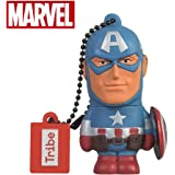 Avengers Chiavetta USB 16 GB Captain America - Memoria Flash Drive 2.0 Originale Marvel, Tribe FD016501