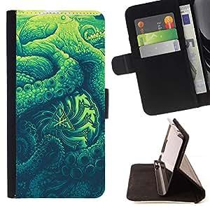 Momo Phone Case / Flip Funda de Cuero Case Cover - Nature Abstrait Soleil - Samsung Galaxy J3 GSM-J300