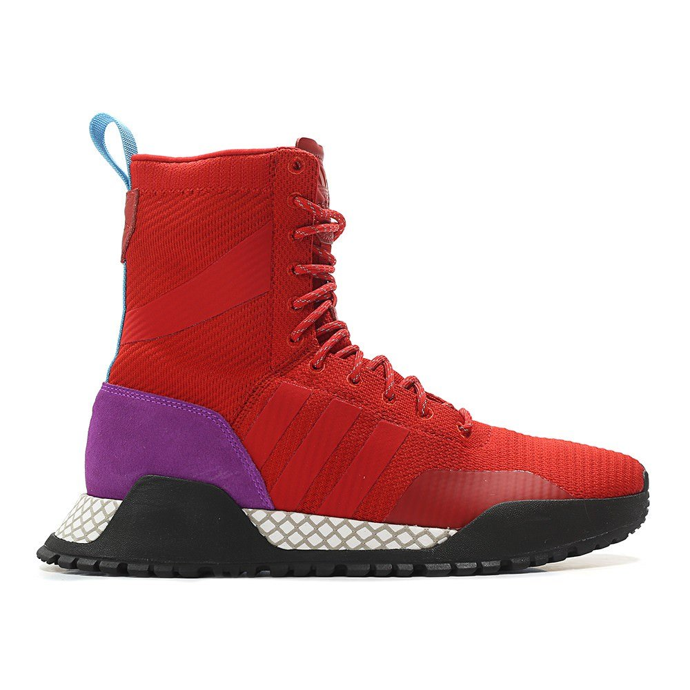 ADIDAS Men's Originals AF 1.3 PK Primeknit Boot Red/Purple/Black (10.5 D(M) US)