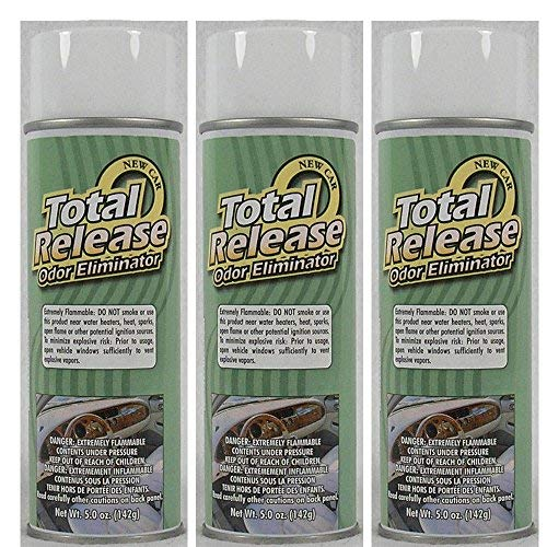 Odor Eliminator, Not a Cover up, (Pack of 3) Total Release Aerosol Spray & Fogger - New Car Scent