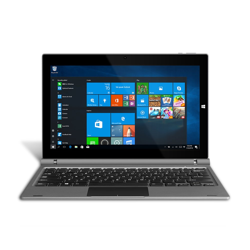YUNTAB 11.6 inch GA116C 2-In-1 Windows 10 HOME Laptop Tablet PC 2GB / 32GB, 1920 x1080 IPS Display, Dual Camera, Wifi, Intel Z8350(Quad-Core) Notebook Computer With Keyboard (Dark Grey) by Yuntab