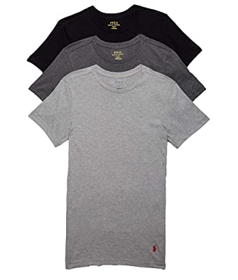 fc0b7815 Polo Ralph Lauren Men's Slim Fit w/Wicking 3-Pack Crews