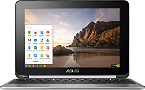 ASUS Chromebook Flip Touchscreen Laptop, Chrome OS, Quad Core, 1.8 GHz, 16 GB, Aluminum Chassis (Renewed)