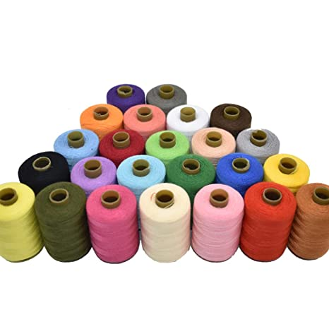 Hilo de coser de 24 colores para coser a máquina y a mano ...