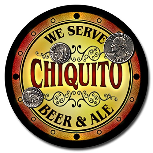 chiquito-family-name-beer-and-ale-rubber-drink-coasters-set-of-4