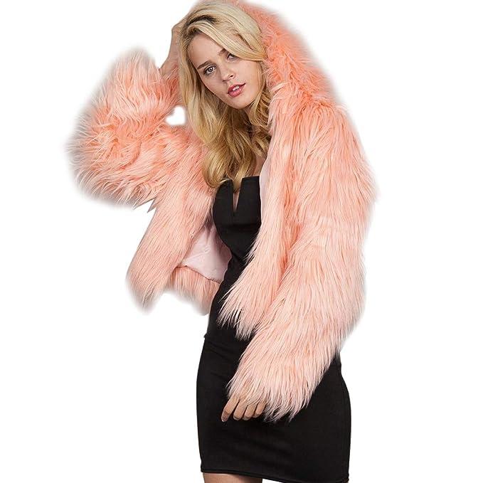 4038f5e4ea673 mioim Fausse Fourrure Manteau Femmes Rose Noir Blanc Fourrure Outwear Dames  À Manches Longues 2XL 3XL