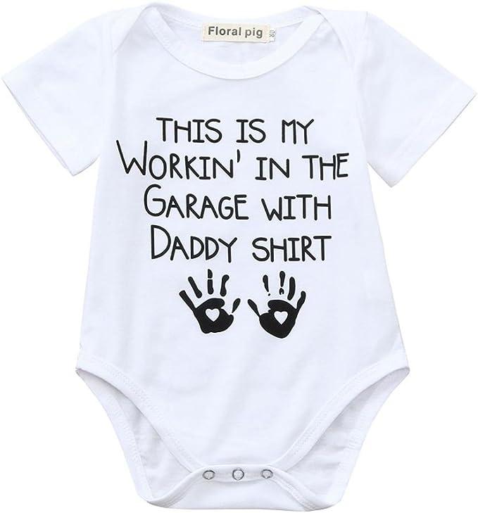 UK Newborn Baby Boy Girls Letter Print Romper Bodysuit Jumpsuit Clothes Outfits