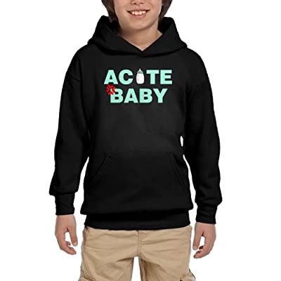 ACUTE BABY Youth Pullover Hoodie Casual Pocket Sweater