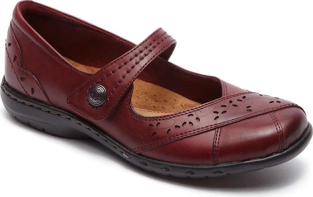 Rockport Women's Cobb Hill Petra Mary Jane,Bordeaux Leather/Synthetic,US 5 M by Rockport (Image #1)
