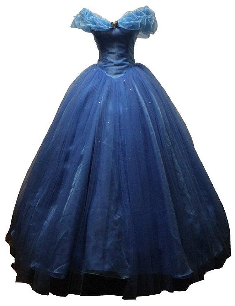 1721bceb0ae97 Blue Women's Cinderella Cosplay Dress Halloween Party Costumes Custom Made  Adult