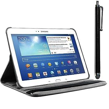 ebestStar - Compatible Funda Samsung Galaxy Tab 3 10.1 GT-P5210, 10 P5200 P5220 Carcasa Cuero PU, Giratoria 360 Grados, Función de Soporte + Lápiz, ...