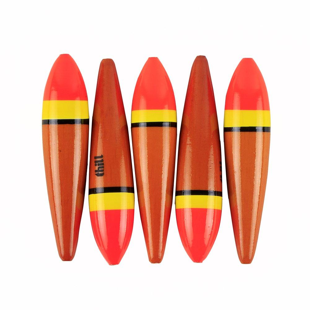 LPATTERN 5pcs Fishing Bobber Slider Float 8cm/4g