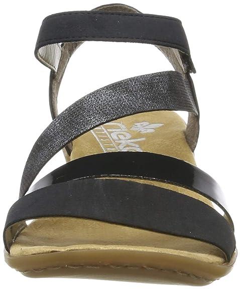 Rieker Damen V0473 14 Geschlossene Sandalen: