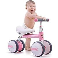 Bicicleta de Equilibrio para niños de 1 a 3 años, 4 Ruedas Bicicleta de Entrenamiento para bebés sin Pedal, Regalos de…