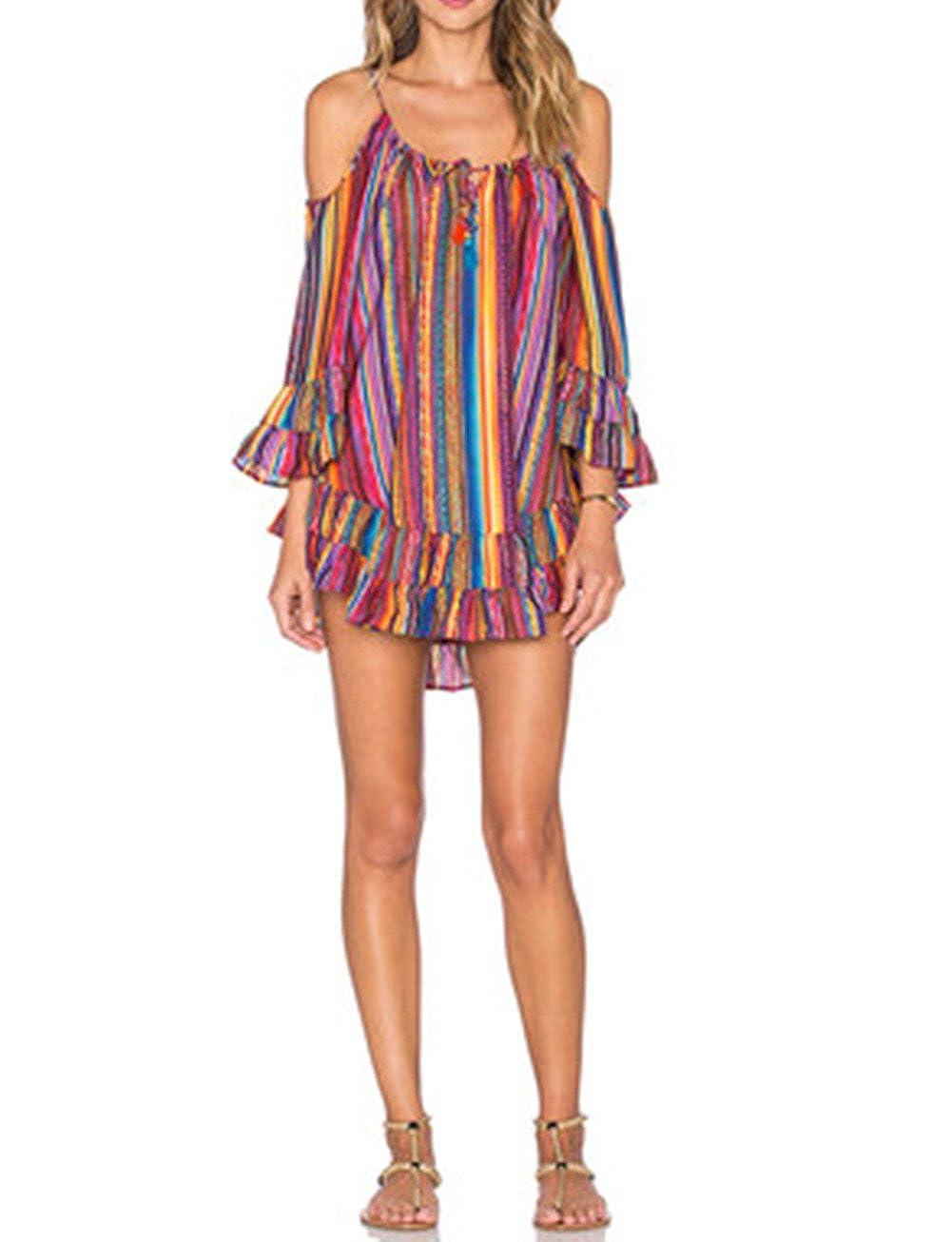 Cresay Womens Cover up Dress Summer Shirt Dress Beach Wear