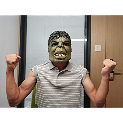 MostaShow Cartoon Hulk Mask Halloween Cosplay Costume Latex Mask for Kids/Adults: Toys & Games