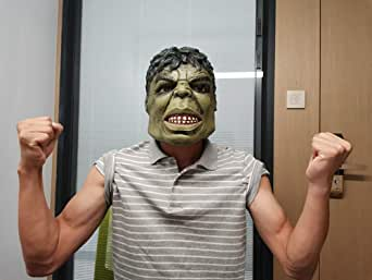 MostaShow Cartoon Hulk Mask Halloween Cosplay Costume Latex Mask for Kids/Adults